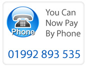 You can pay now by phone